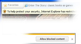 Internet Explorer may want you to click for javascript